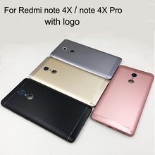 Original New Battery Door Back Cover Housing Case For Xiaomi Redmi NOTE 4X 32GB 16GB 5.5 Inch Version note 4x Pro 64GB with logo