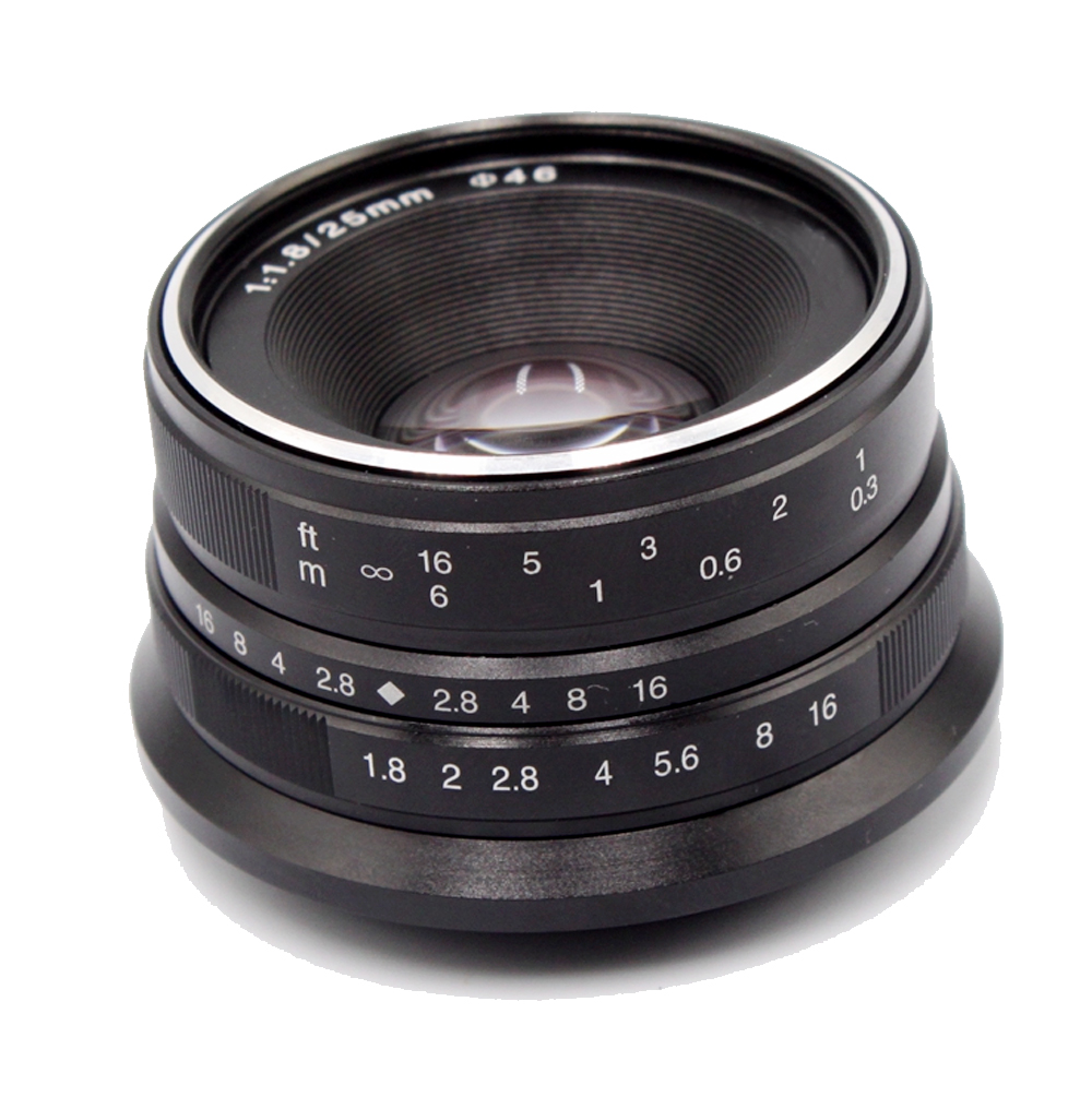Micro objektiv Primární objektiv Inseesi 25 mm f1.8 pro E Mount / - Videokamery a fotoaparáty - Fotografie 3