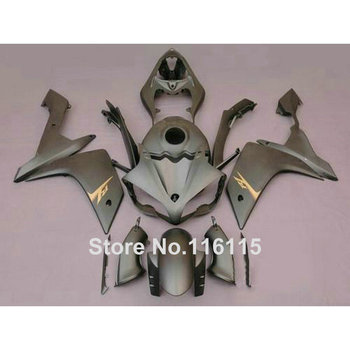 Injection molding motorcycle parts for YAMAHA YZF R1 2007 2008 fairings set YZF-R1 07 08 all matte silver ABS fairing kit CF54