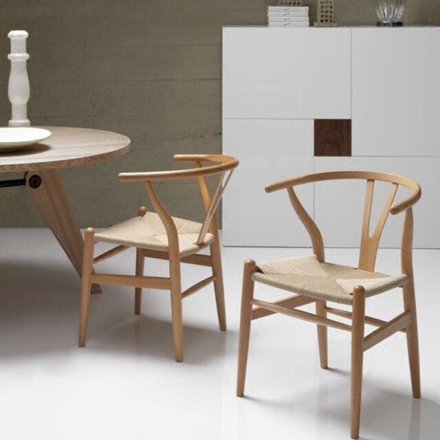 Eetkamer meubels wishbone y stoel hedendaagse en massief houten eetkamerstoel minimalistische - Hedendaagse stoel ...