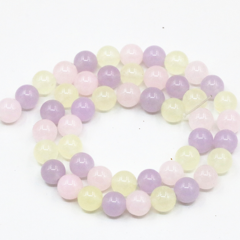 Natural Stone Jades Round Loose Beads For Jewelry Making Diy Necklace Bracelets Multicolor Crafts 6mm 8mm 10mm 12mm 15inch A13