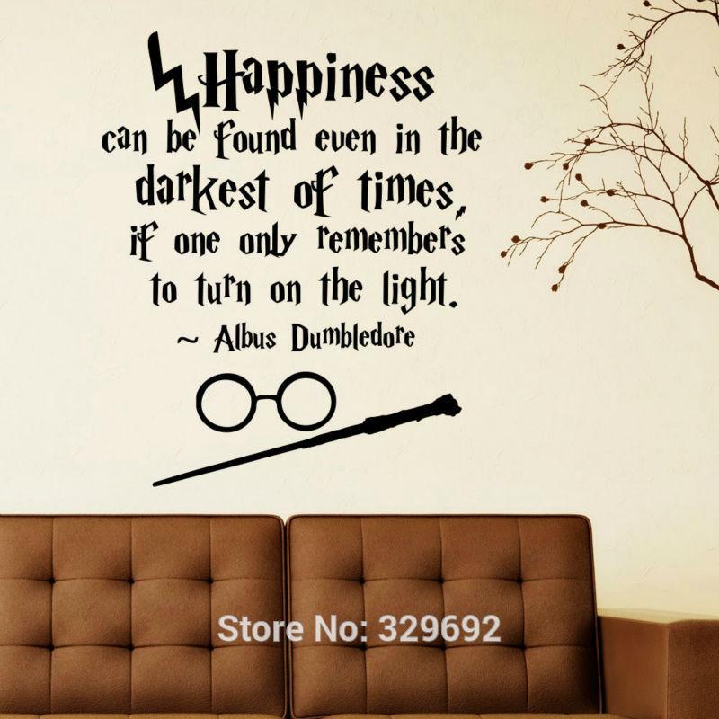 Harry Potter Happiness Can Be Found Even Hogwarts Wall <font><b>Art</b></font> <font><b>Sticker</b></font> Decal <font><b>Home</b></font> DIY Decoration Wall <font><b>Mural</b></font> Removable Decor <font><b>Stickers</b></font>