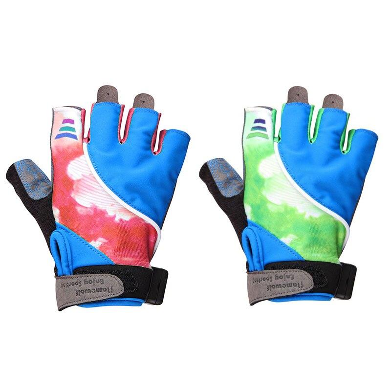 Fahrrad handschuhe fahrrad stoßfest atmungs mountainbike reiten halb finger licht handschuhe