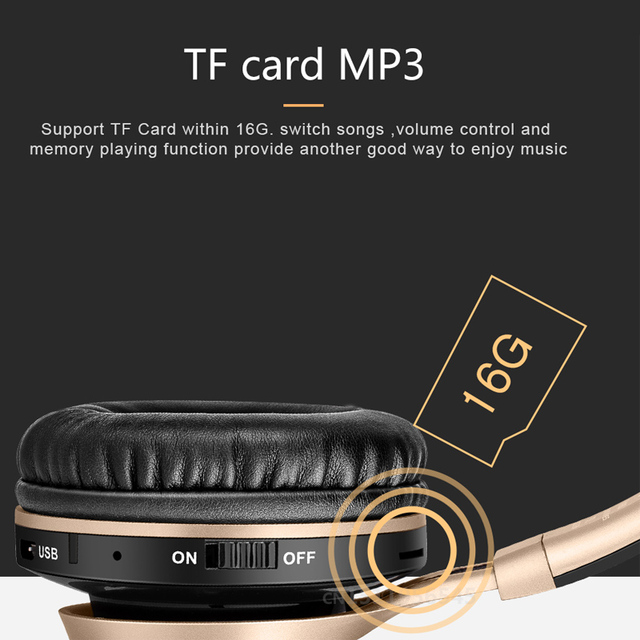Adjustable Earphones With Microphone For PC mobile phone Mp3 Wireless Headphones Bluetooth Headset Foldable Headphone