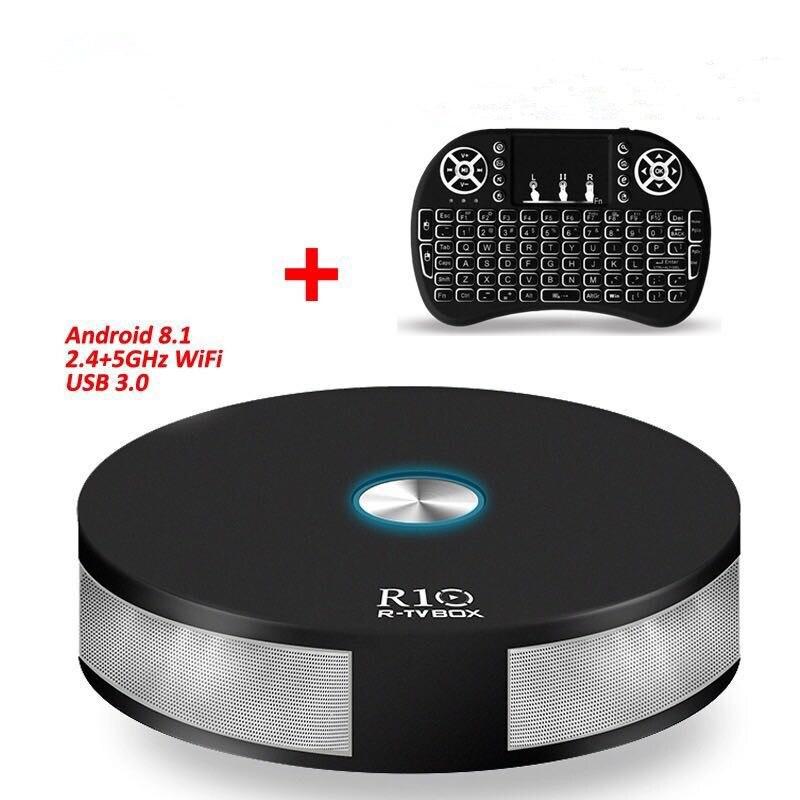 DJYG R10 Smart Android 7.1 TV Box RK3328 4K VP9 H.265 HDR10 USB3.0 4GB / 64GB Mini PC DLNA Miracast 2.4G/5G WiFi 1000M LAN r tv box mini android 7 1 1 rk3328 4k vp9 tv box