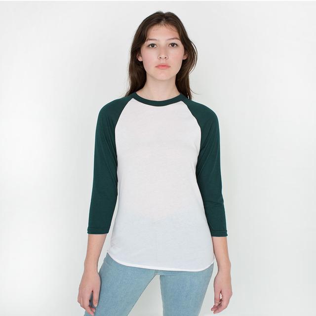 Contrast Raglan-sleeved Tops
