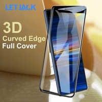 3D Curvo Pieno Della Copertura Della Protezione Dello Schermo di Vetro Temperato per Sony Xperia 10 Più XZ4 XZ3 XZ1 Compatto XZ XZ2 Premium XA2 Ultra di Vetro