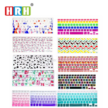 Silicone Flower Decal Rainbow Keyboard Cover Keypad Skin Protector For Apple Mac Macbook Pro 13 15 17 Air 13 Retina 13 US layout 50pcs lot flowers design silicone us keyboard cover keypad skin protector for apple mac macbook pro 13 15 17 air 13 retina 13
