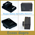 2280 mah Batería de Alta Capacidad de Go Pro Hero3/3 + (plus) Batería Bacpac para gopro 3/3 + accesorios