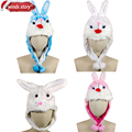 NEW Easter/Party Bunny Rabbit Top Hat Plush Bonnet Decor animal hat rabbit headwear childrens kids adults novelty dressup cap