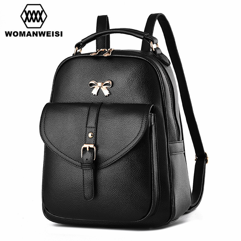 2017 New Fashion Shoulder Bags Backpack Dual Brand Japan and Korean Style Leather Schoolbag For Teenager Girls Female sac a dos new brand designer women fashion backpacks simple koran style school for teenager girls ladies shoulder bags black
