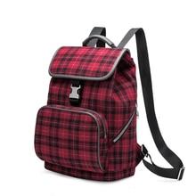 Купить с кэшбэком New Fashion Plaid Women Backpacks,  Premium and Durable Fabric Woolen Backpack Big storage Travel Bags for for Lady Girls