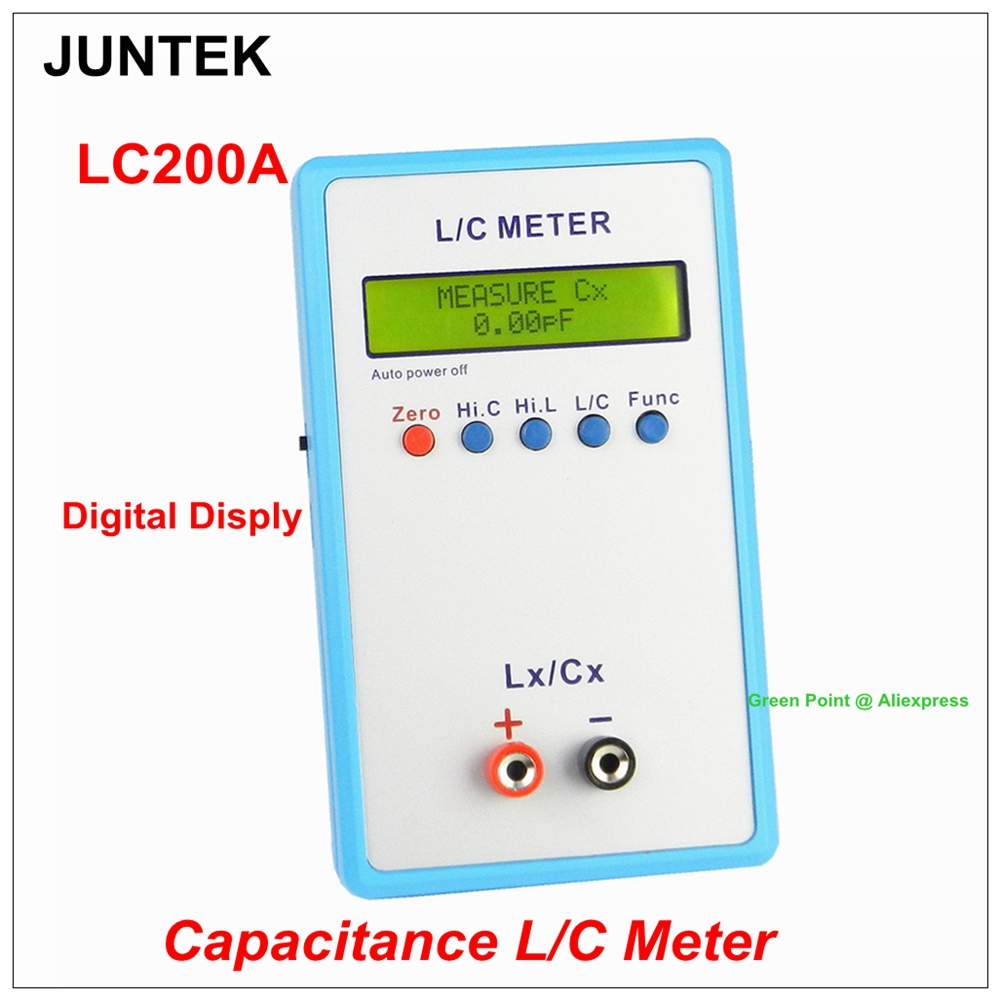 Новый JUNTEK LC-200A 1pF-100mF 1uH-100H цифровой ЖК-дисплей постоянной ёмкости, универсальный конденсатор цифровой измеритель индуктивности лк высокой т...