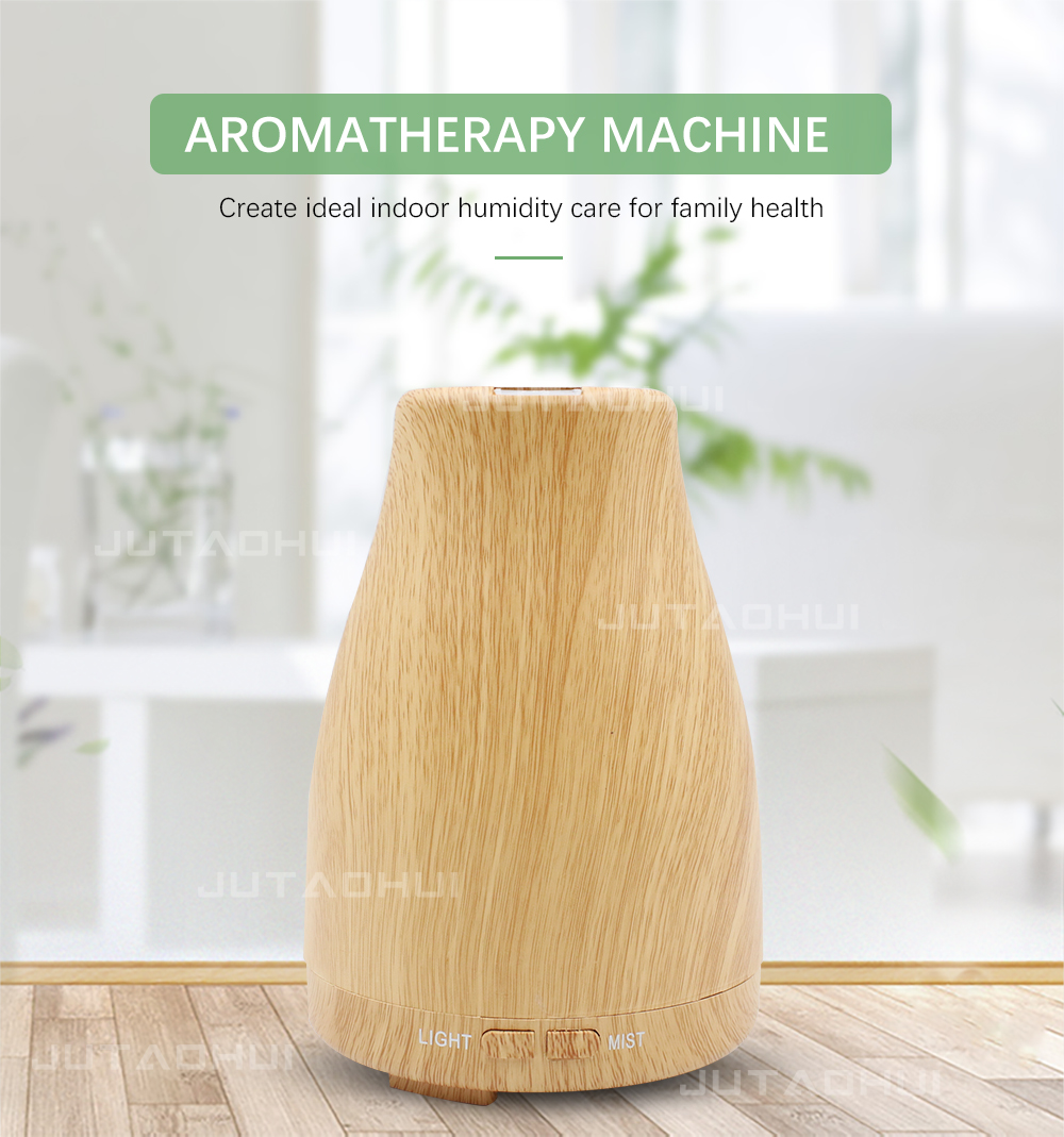120ml Aroma Essential Oil Diffuser Ultrasonic Air Humidifier with Wood Grain 7 Color Changing LED Lights for Office Home120ml Aroma Essential Oil Diffuser Ultrasonic Air Humidifier with Wood Grain 7 Color Changing LED Lights for Office Home