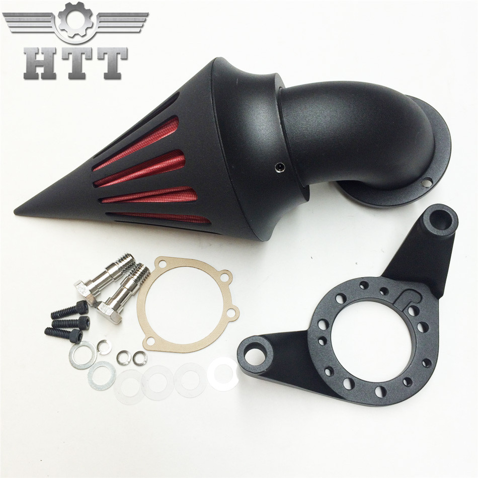 Aftermarket free shipping motor parts Spike Air Cleaner intake filter for Harley Davidson CV Carburetor Delphi V-Twin BLACK chrome aluminum motorcycle kit cone spike air cleaner intake filter case for harley cv carburetor delphi v twin