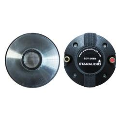 STARAUDIO 2Pcs 2000W 34MM 1.35 PA DJ Titanium Compression Screw-On Horn KTV Stage Party Audio Speaker Tweeters Driver SDV-34MM