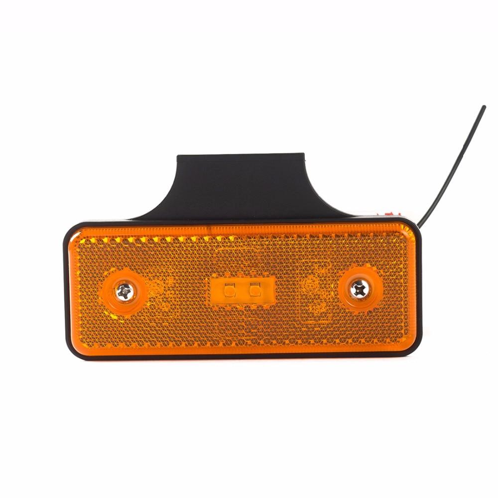 4 pieces 4*1.3&#8221; Truck <font><b>Led</b></font> Reflector Tail Brake Turn <font><b>Signal</b></font> Light Lamp Rectangle Car/ATV <font><b>LED</b></font> Reflectors/Truck Side Warning Light