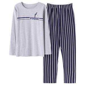 Image 5 - Bzel Katoen Paar Pyjama Set Leuke Cartoon O hals Lange Mouw Nachtkleding Zachte Leisure Pyjama Voor Mannelijke En Vrouwelijke Lovers Kleding