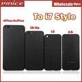Fosco caixa preta para iphone 5 5s 6 6 s 6 s além de alumínio caso de substituição da tampa da porta da bateria de metal de volta como 7 estilo dhl livre
