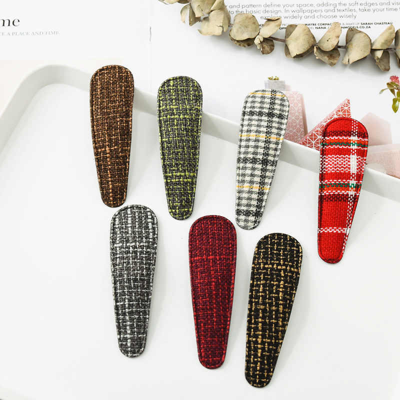 Новые модные хорошо продаваемые английские тканевые стильные женские заколки BB длинные шпильки для девочек заколки для волос аксессуары
