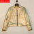 Plus size mulheres nova moda de alta qualidade gola bolso com zíper de Slim era Magro ouro genuíno couro de Ovelha jaqueta de couro XXXL