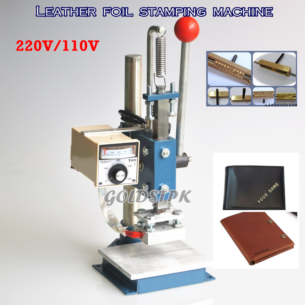 BEST QUALITY NEW MANUAL HOT FOIL STAMPING MACHINE CREASING MCHINE MARKING PRESS LEATHER STAMPING PRINTER EMBOSSING