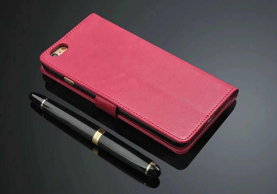 Lyxig PU-läder Flip Wallet-telefonväska för Apple IPhone 6 6S Plus - Reservdelar och tillbehör för mobiltelefoner - Foto 5