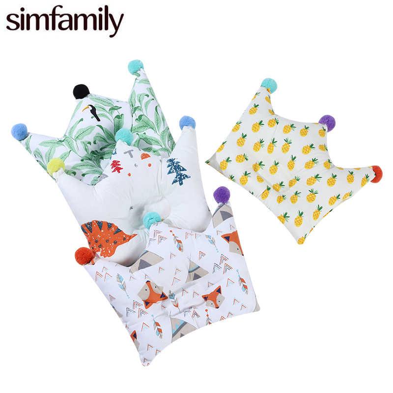 [Simfamily] bébé nouveau-né oreiller tête Protection nourrissons couronne forme Dot bébé literie accessoires oreillers garçon fille chambre décoration