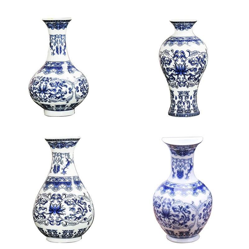 Wall Hanging Ceramic Traditional Blue White Porcelain Vase
