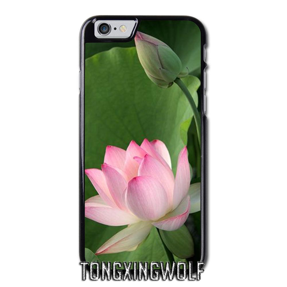 White Lotus Flower Cover Case For Iphone 4 4s 5 5s 5c Se 6 6s 7 8 X