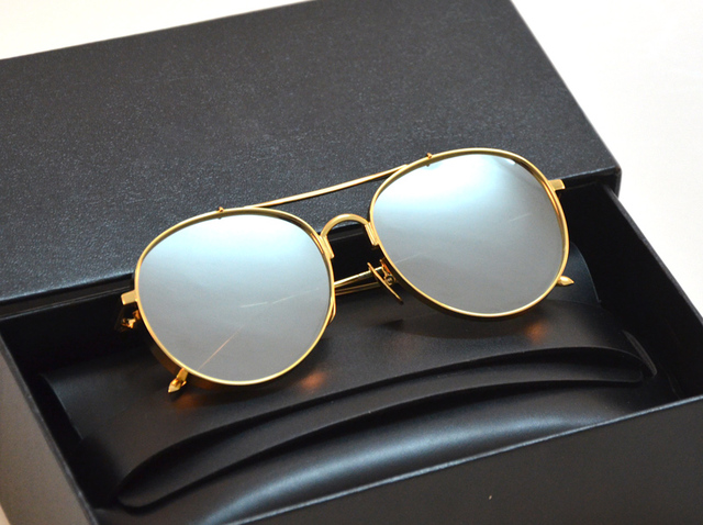 ea2e8cc9d6e V Logo Big Bully Sunglasses Vintage Women Men Korea Brand Design Gentle  Sunglasses With Logo And