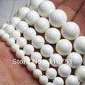 Hot Sale 4,6,8,10,12mm Natural Tridacna Stone White Round Chalcedony Stone Beads15.5 Pick Size Free Shipping-F00095