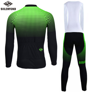 Siilenyond 2019 Pro Winter Thermal Cycling Set Shockproof MTB Bicycle Cycling Clothing Mountain Bike Cycling Clothes For Men 2