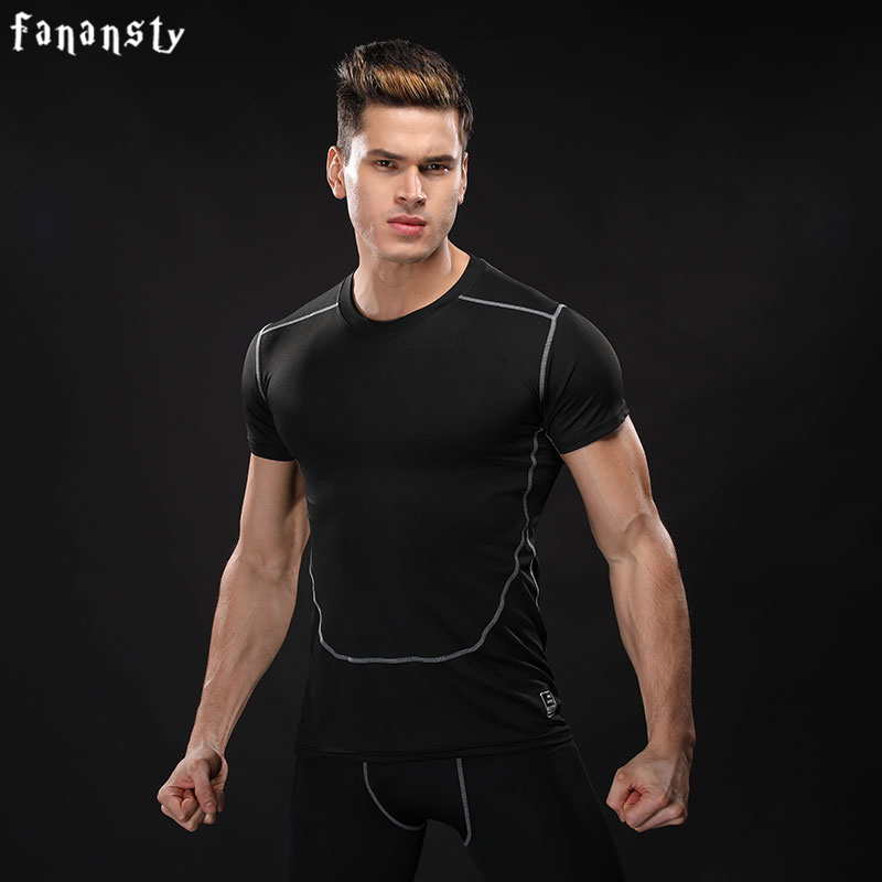 Sport Shirt Running T-Shirt Men Short Sleeve Fitness shirt Top men Camoflage Running Shirt Men Quick Dry Gym Clothing T-shirt