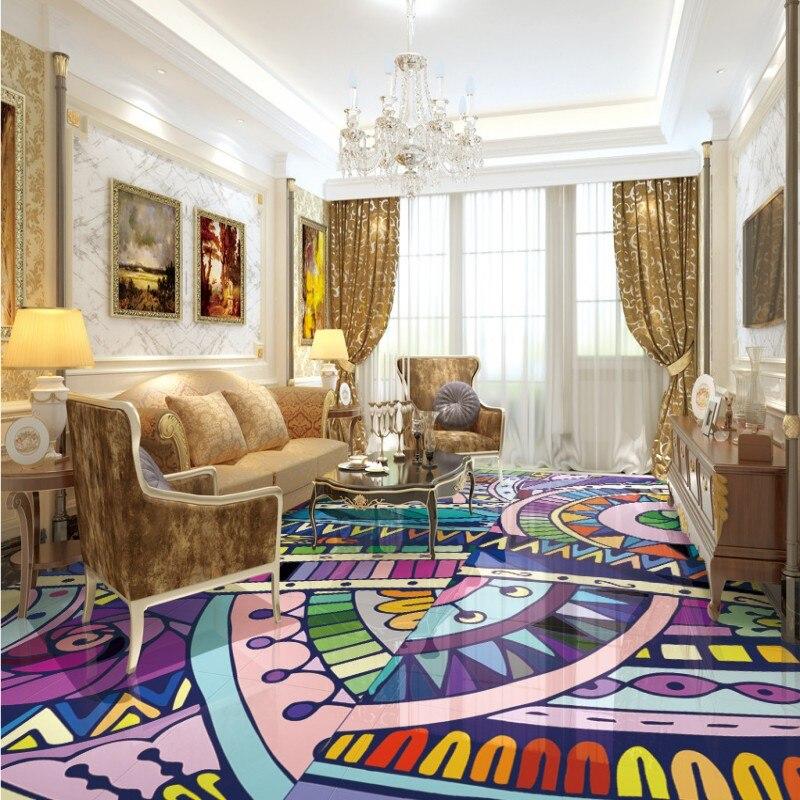 Freies Verschiffen Nach Bodenbelag 3d Bad Wohnzimmer Tapete Barber Dekorative Muster Decke Boden Wandbild
