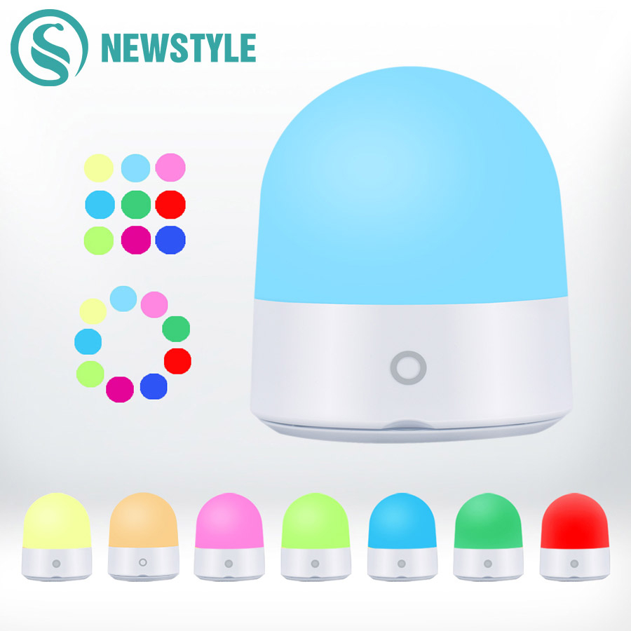 RGB Home Moving LED Night Light Touch Switch Color Change LED Night Lamp Portable Atmosphere Light for Indoor Outdoor