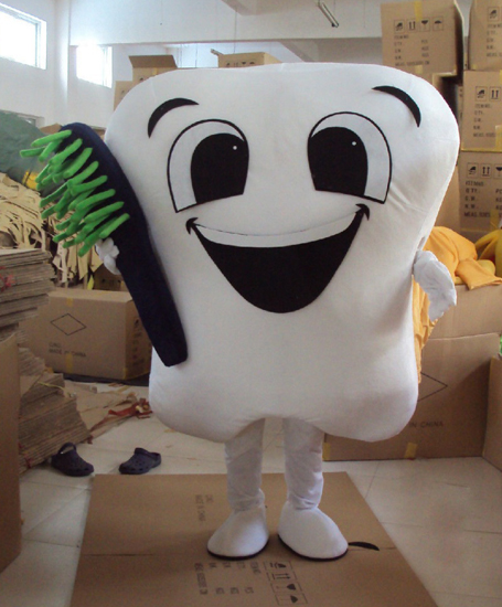 Soins dentaires clinique promotion dent mascotte costume fête costumes fantaisie mascotte robe parc d'attractions tenue