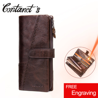 2017 New Vinatge Brand Men Clutch Wallet Long Genuine Leather Male S Purse For Cell Phone