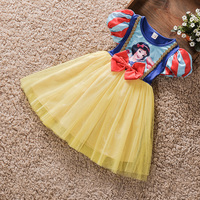 Nowe Top quality Dzieci Dziewczyna księżniczka sofia sukienka dla dziewczynek snow White Cosplay Costume Carnival party tutu sukienki dla dzieci