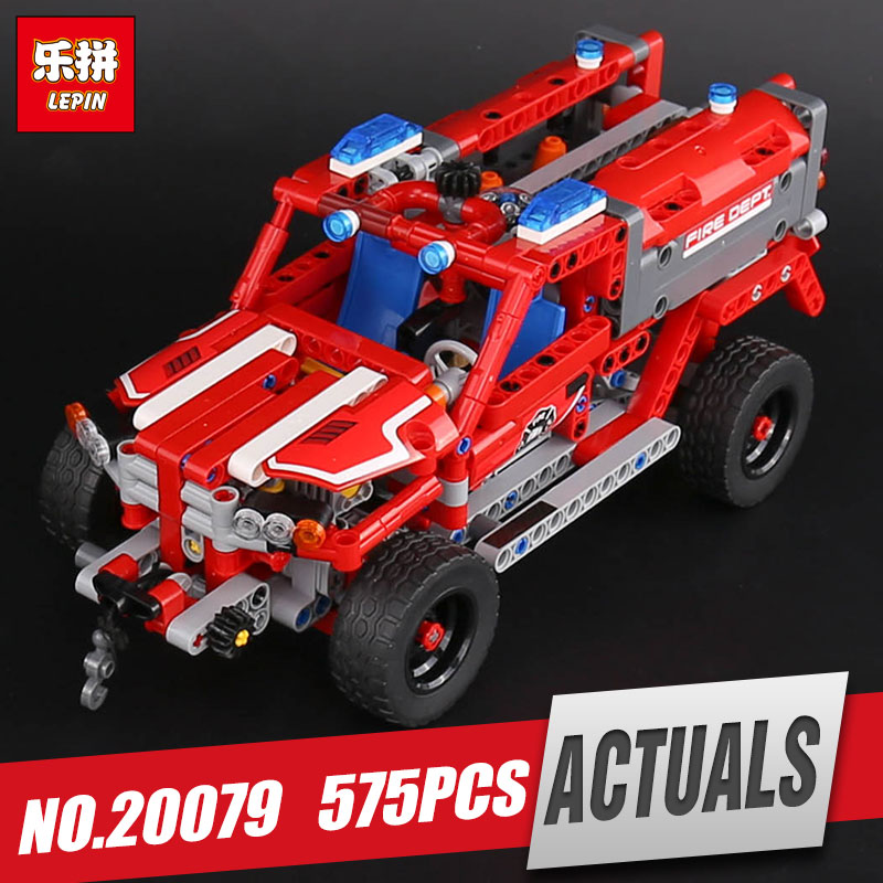 Lepin 20079 New 575Pcs Technic Series The First Responder Set 42075 Building Blocks Bricks Educational Toys For Kids As Gifts brand new yuxin zhisheng huanglong high bright stickerless 9x9x9 speed magic cube puzzle game cubes educational toys for kids
