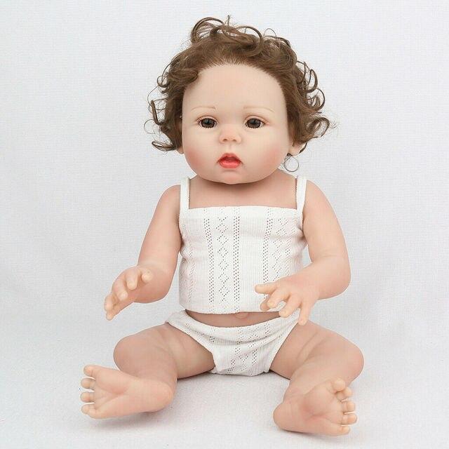 18-zoll Silikon Reborn Baby Neugeborenen Mädchen Puppe Realistische Puppe Bad Spielzeug Kleinkind Junge Spielzeug Geschenk