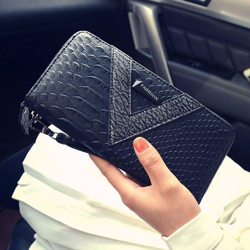 Alligator Pattern Wallet Female Fashion Large Capacity Card Holder Phone Clutch Purse Zipper Coin Purse Money Case Women Wallets