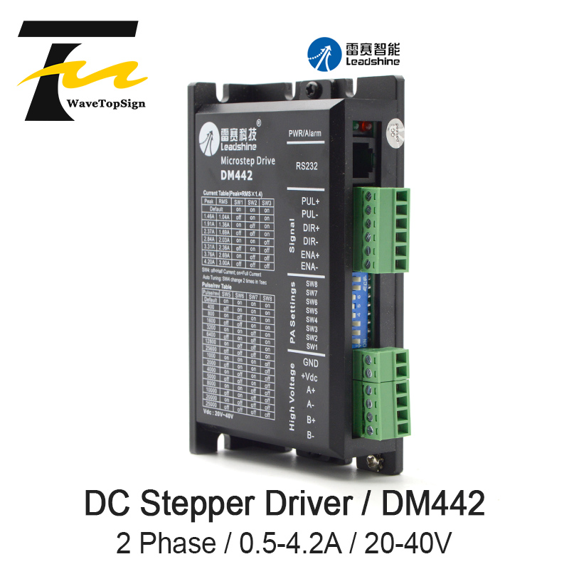 Leadshine 2 phase Digital Stepper Motor Driver Leadshine <font><b>DM442</b></font> VDC20-40 VDC Step Motor Driver for Engraver Cutting Machine image