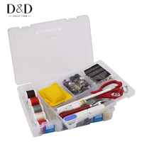 D&D Multi function Hard Plastic Sewing Box with Quality Embroidery Tools Accessories 23*16*5.5cm