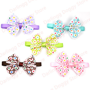 Image 5 - 120pcs Mixed Styles Pet Puppy Dog Cat Bow Ties/Bowties Adjustable Dog Grooming Bows Accessories Dog Ties Pet Products