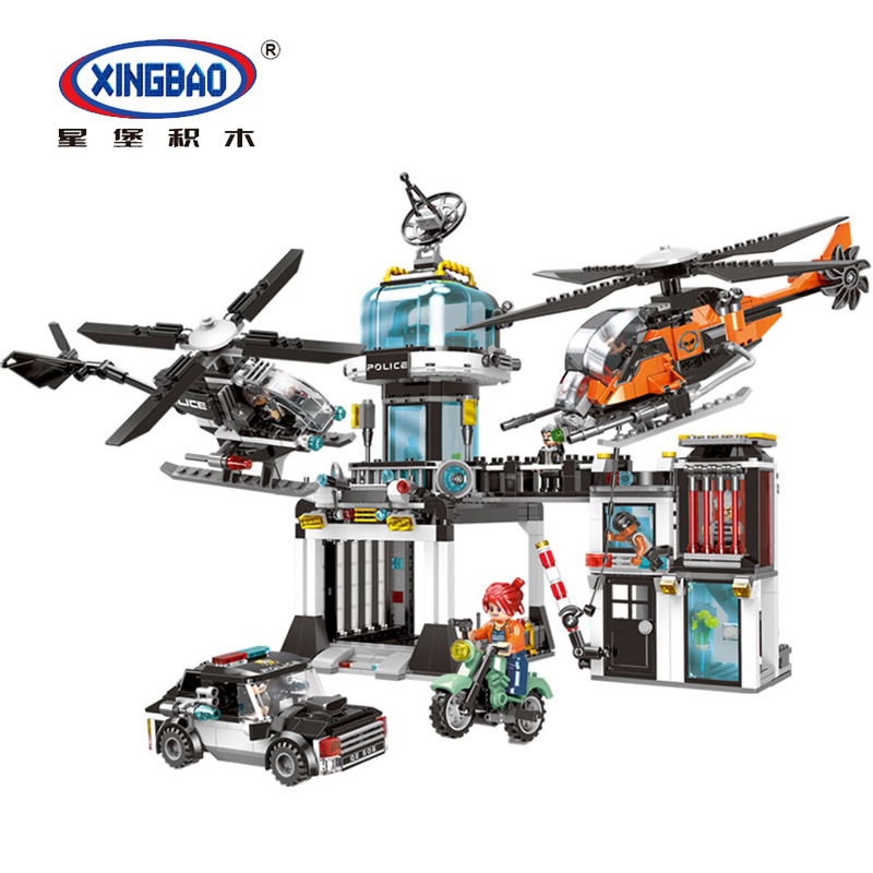 1323pcs City Police Command Station Building Blocks Bricks Helicopter Compatible Legoinglys City set Toys for Children Gift 870pcs city police station big building blocks bricks helicopter boys toys birthday gift toy brinquedos compatible with legoing
