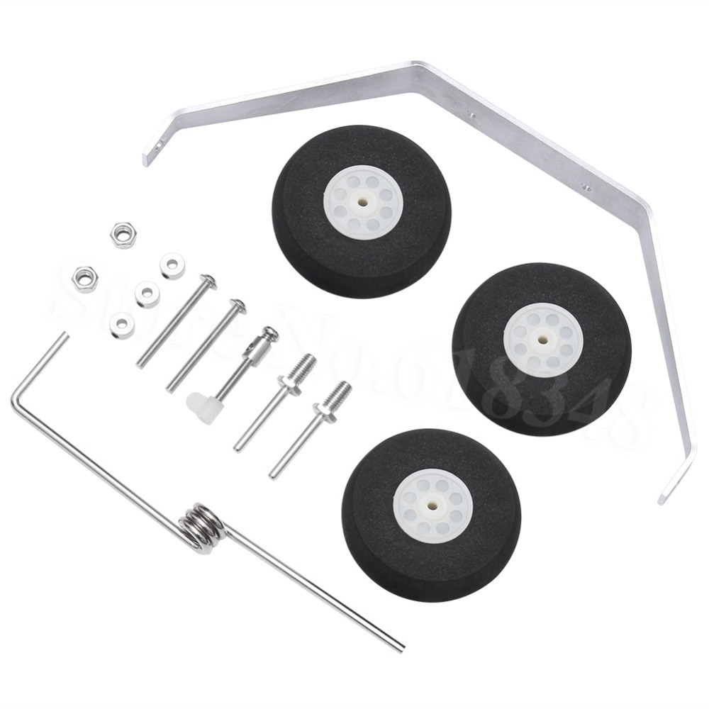 10 Sets / Lot Aluminum Main Landing Gear Wheel Tire Kit RC Airplane Cessna 182 Parts Replacement 40 Size ARF PNP