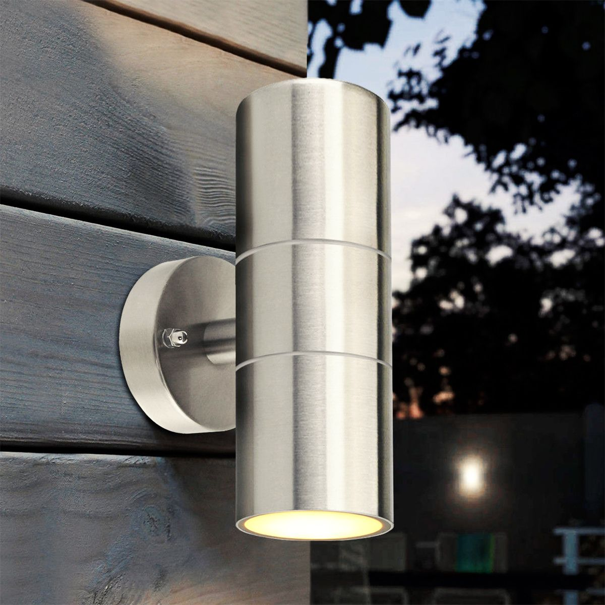 Stainless Steel Up Down Wall Light GU10 IP65 Double Outdoor Wall Light black led wall light waterproof ip65 stainless steel up down gu10 double wall lamp indoor outdoor wall lamp ac 85 265v