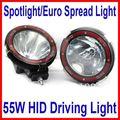 """7 """" 55 W 9 - 36 V ocultó la luz de conducción brillante Off Road ATV SUV 4WD 4 x 4 punto / viga de la inundación camión 3200lm IP67 incorporado lastre delgado de ca"""
