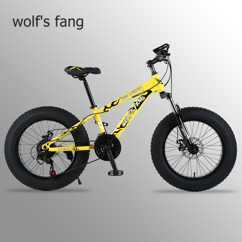 wolf s fang mountain bike 21 speed 2 0 inch bicycle Road bike Fat Bike Mechanical